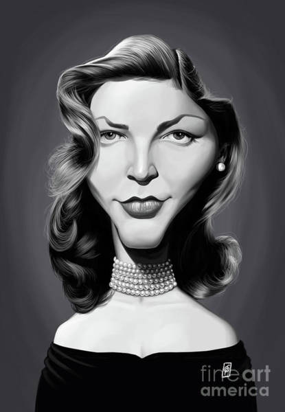 Digital Art - Celebrity Sunday - Lauren Bacall by Rob Snow