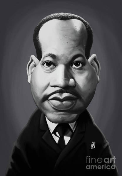 Digital Art - Celebrity Sunday - Martin Luther King by Rob Snow