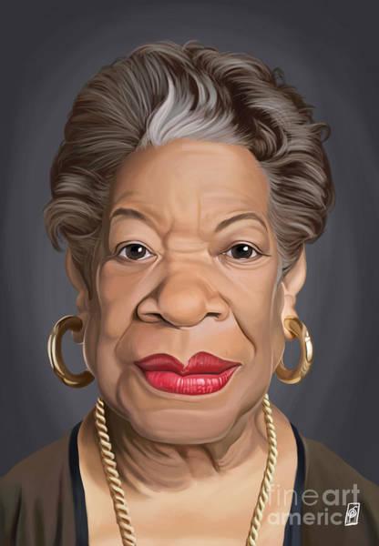 Digital Art - Celebrity Sunday - Maya Angelou by Rob Snow