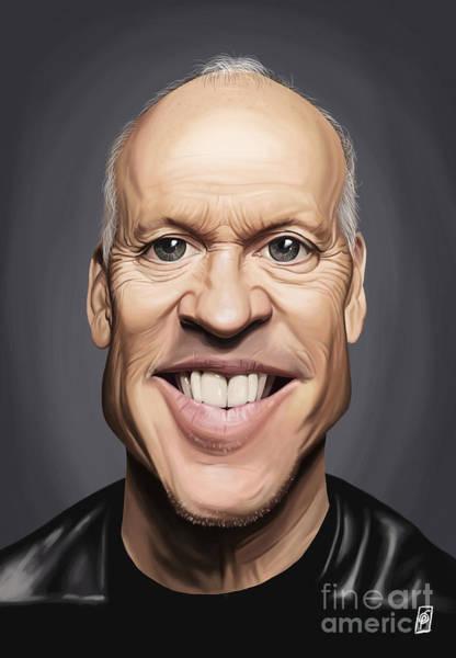Digital Art - Celebrity Sunday - Michael Keaton by Rob Snow