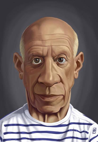 Digital Art - Celebrity Sunday - Pablo Picasso by Rob Snow