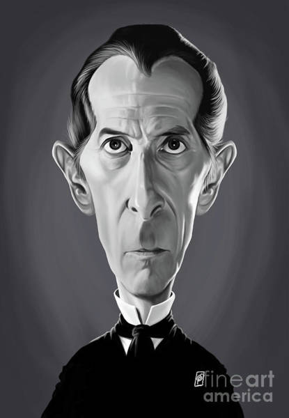 Digital Art - Celebrity Sunday - Peter Cushing by Rob Snow