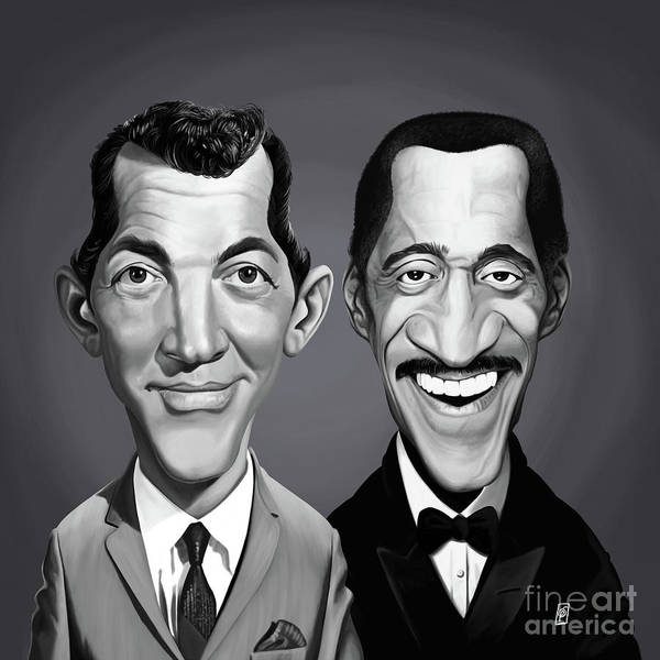 Digital Art - Celebrity Sunday - Sammy Davis Jnr And Dean Martin by Rob Snow