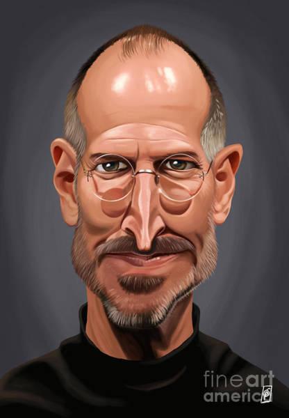 Digital Art - Celebrity Sunday - Steve Jobs by Rob Snow