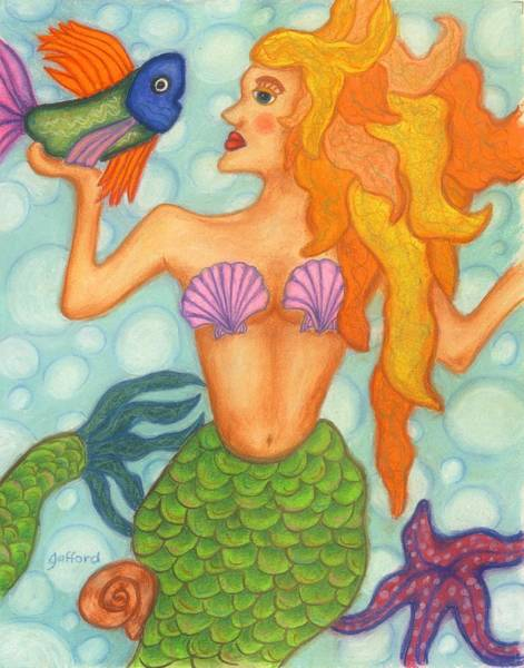 Painting - Celeste The Mermaid by Norma Gafford