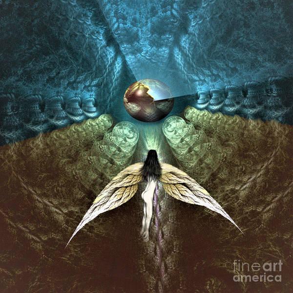 Digital Art - Celestial Cavern by Vincent Autenrieb