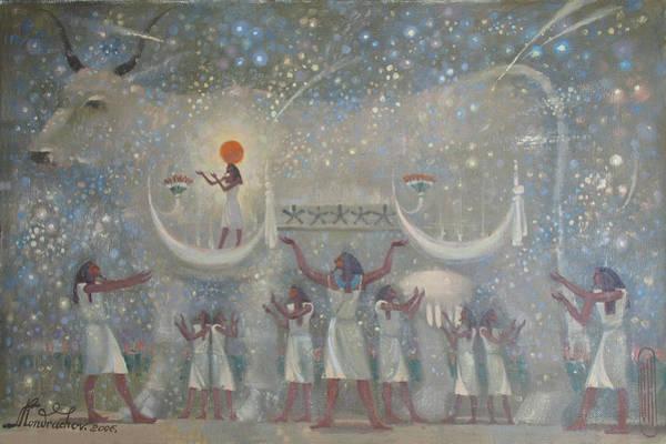 Painting - Celestial Cow by Valentina Kondrashova