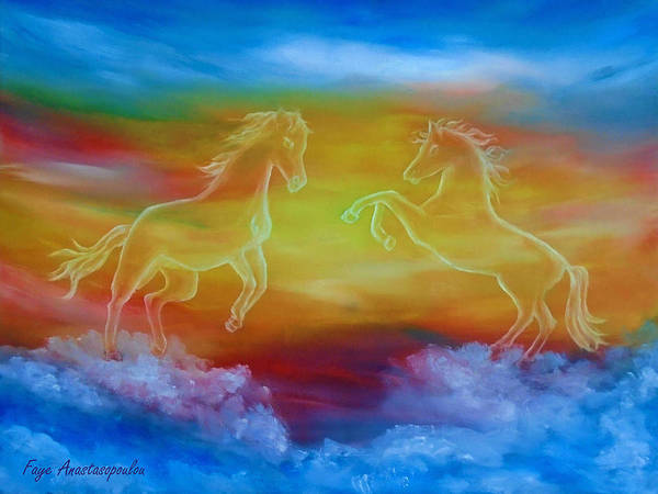 Wall Art - Painting - Celestial Dream by Faye Anastasopoulou