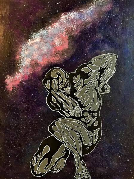 Wall Art - Painting - Celestial In The Galaxy by Willy Proctor