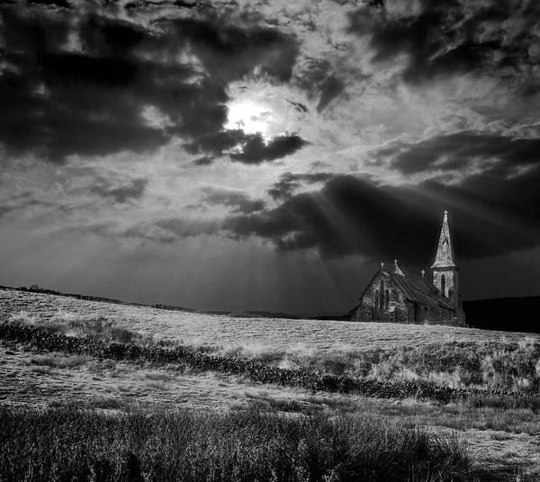 Spires Photograph - Celestial Lighting by Meirion Matthias
