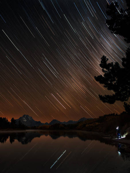 Oxbow Park Photograph - Celestial Patience At The Oxbow Bend by Mike Berenson