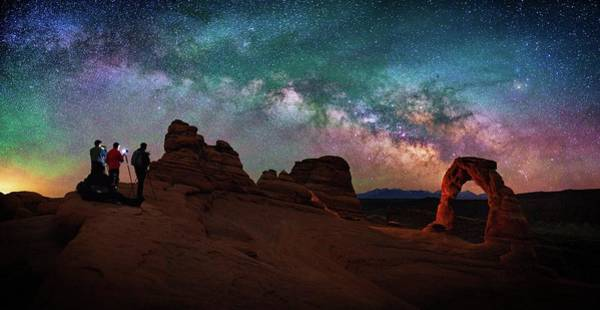 Delicate Arch Photograph - Celestial Prelude by Mike Berenson