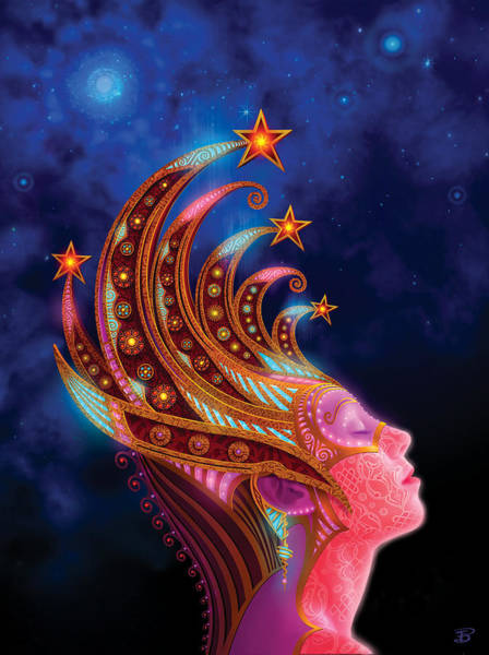 Wall Art - Painting - Celestial Queen by Philip Straub