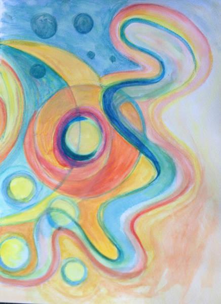 Painting - Celestial Swirl by Gerda Lederer