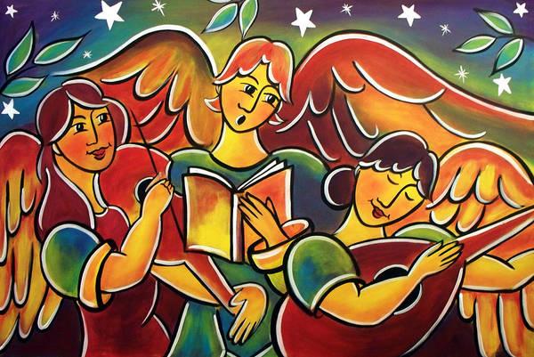Painting - Celestial Symphony by Jan Oliver-Schultz