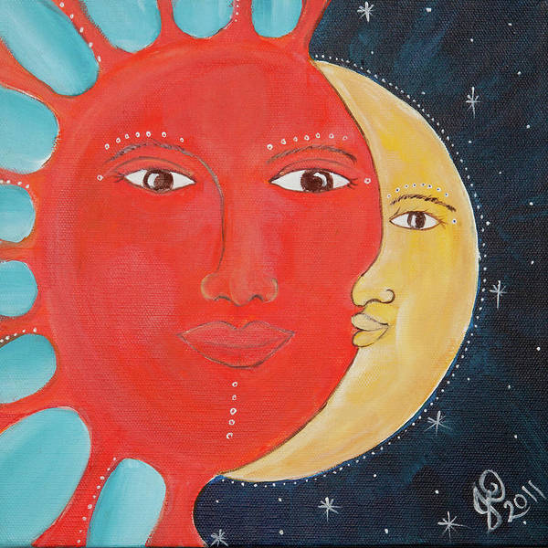 Wall Art - Painting - Celestial Togetherness  by Jahweh David