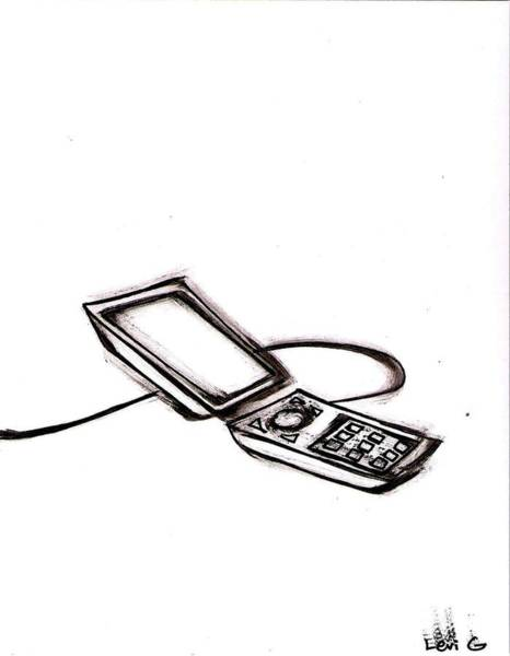 Electronica Drawing - Cell Phone by Levi Glassrock
