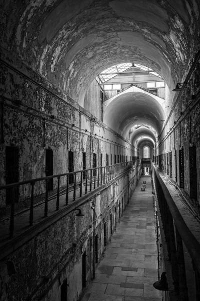 Photograph - Cellblock 7 In Black And White by Tom Singleton