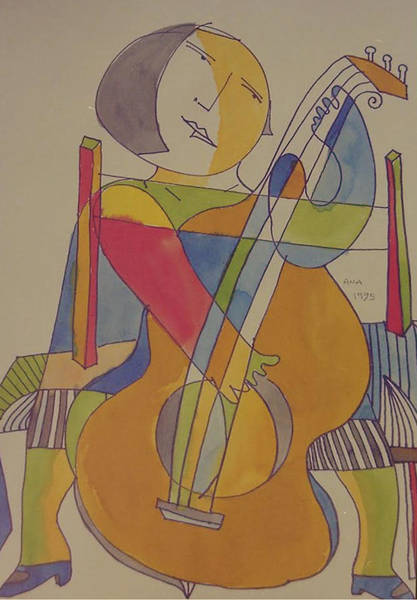 Digital Art - Cellist by Ana Johnson