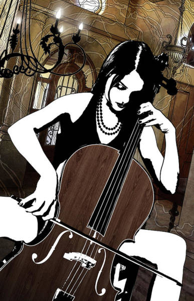 Digital Art - Cellist by Jason Casteel
