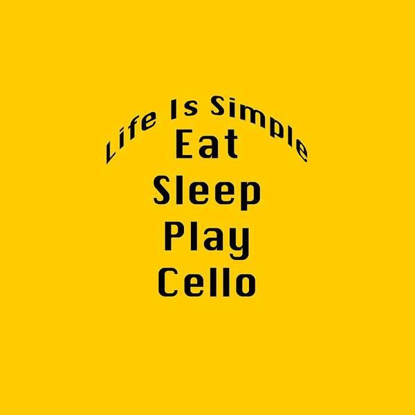 Photograph - Cello Eat Sleep Play Cello 5524.02 by M K Miller