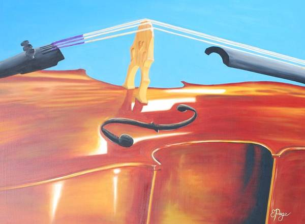 Painting - Cello by Emily Page
