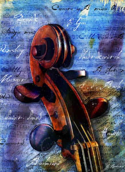 Music Instrument Digital Art - Cello Masters by Gary Bodnar