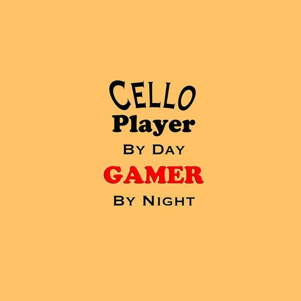 Photograph - Cello Player By Day Gamer By Night 5636.02 by M K Miller