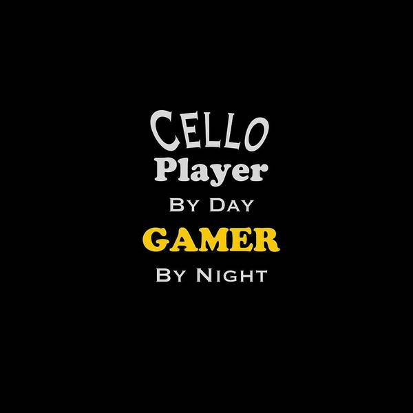 Photograph - Cello Player By Day Gamer By Night 5637.02 by M K Miller