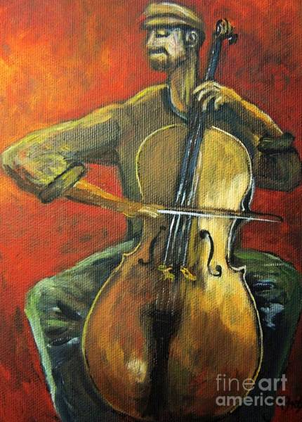 Cellist Painting - Cello by Reb Frost