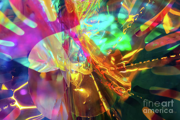 Photograph - Cellophane And Lights Abstract One by Susan Vineyard