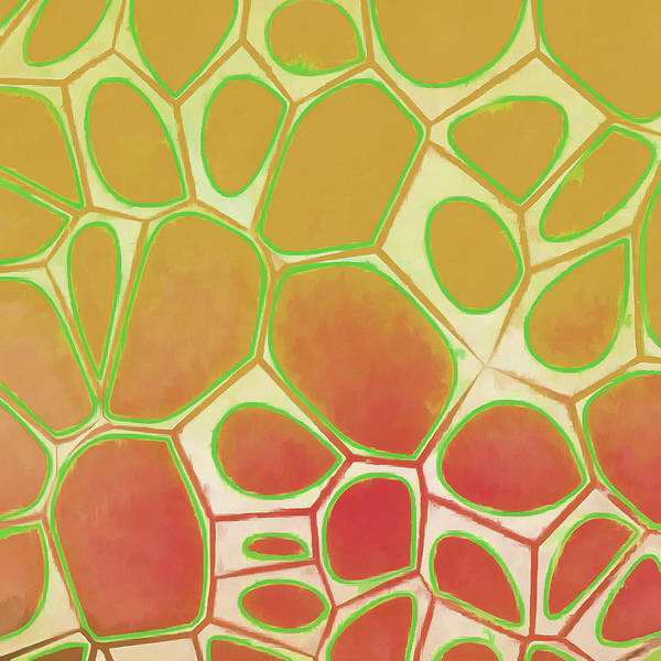 Wall Art - Painting - Cells Abstract Five by Edward Fielding