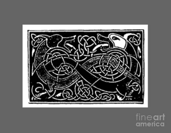 Satanism Digital Art - Celtic Animals by Frederick Holiday