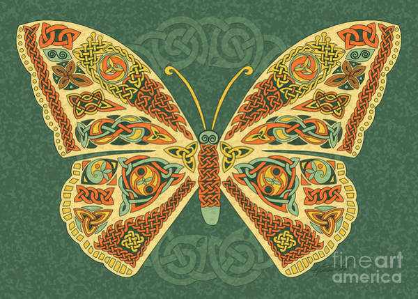 Mixed Media - Celtic Butterfly by Kristen Fox