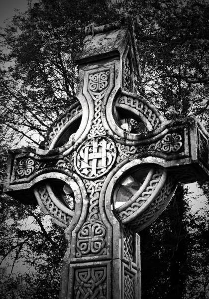 Cemeteries Photograph - Celtic Cross Detail Killarney Ireland by Teresa Mucha