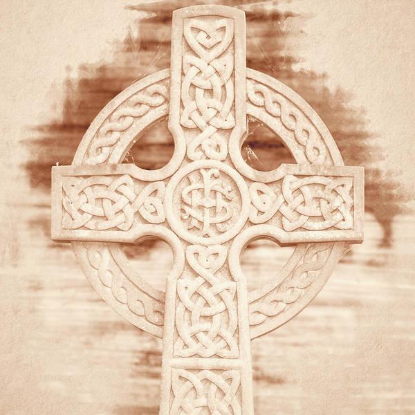Photograph - Celtic Cross Ihs Fine Art by Jacek Wojnarowski