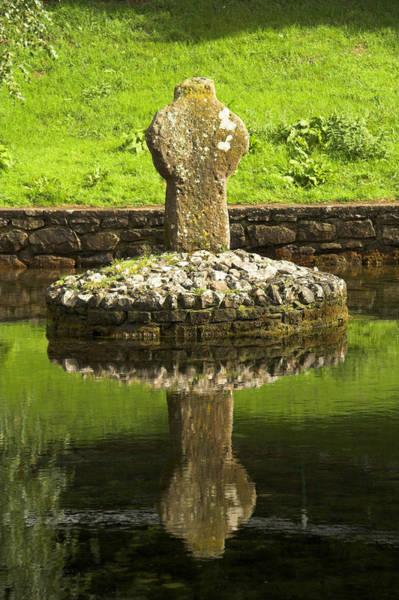 Celtic Mythology Wall Art - Photograph - Ancient Celtic Cross At St Patrick Well by Artur Bogacki
