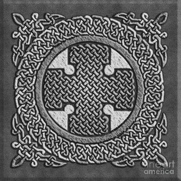 Mixed Media - Celtic Cross by Kristen Fox