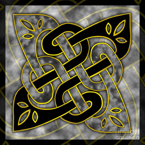 Mixed Media - Celtic Dark Sigil by Kristen Fox