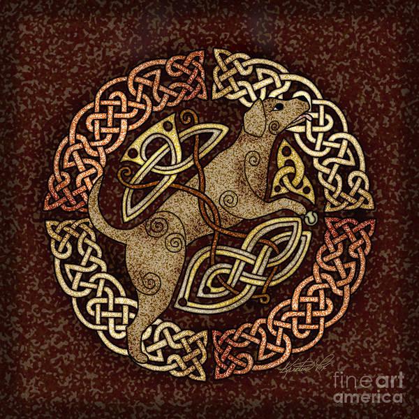 Mixed Media - Celtic Dog by Kristen Fox