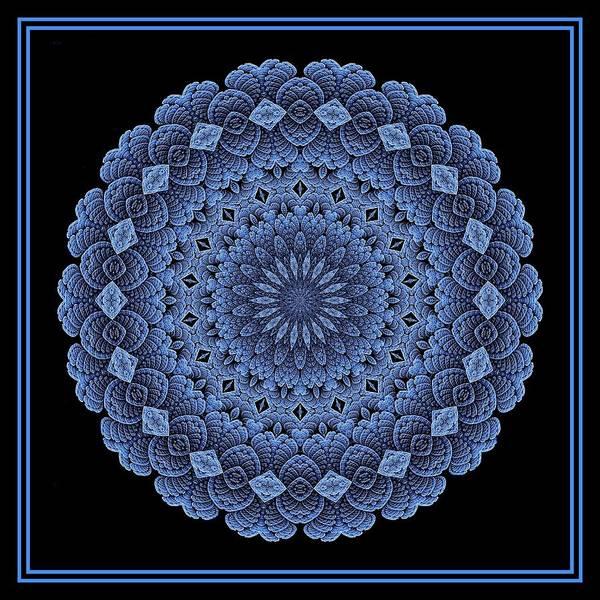 Digital Art - Celtic Doily Blue Tile by Doug Morgan