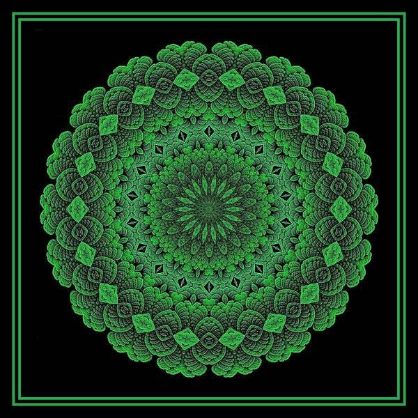 Digital Art - Celtic Doily Green Tile by Doug Morgan