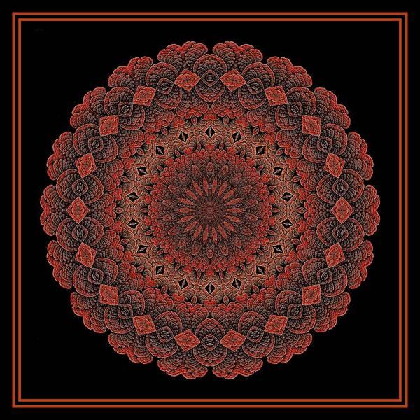 Digital Art - Celtic Doily Orange Tile by Doug Morgan