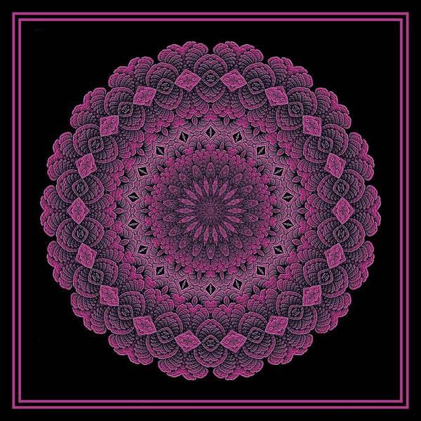 Digital Art - Celtic Doily Pink Tile by Doug Morgan