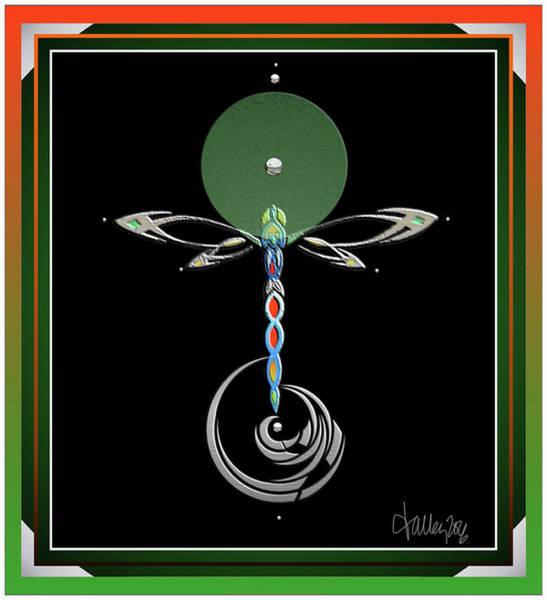 Celtic Dragonfly Art Print