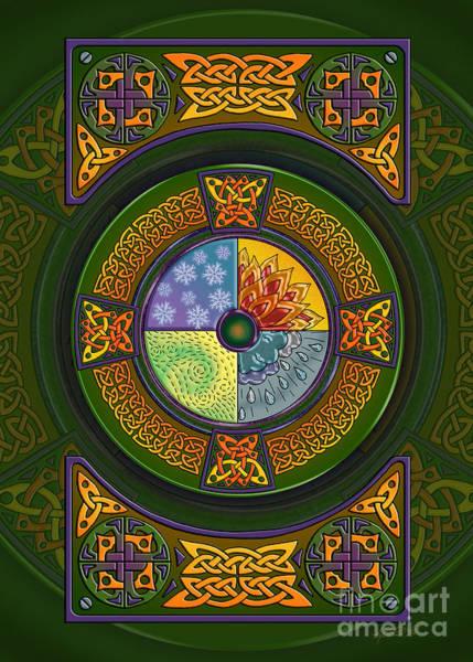 Mixed Media - Celtic Elements by Kristen Fox