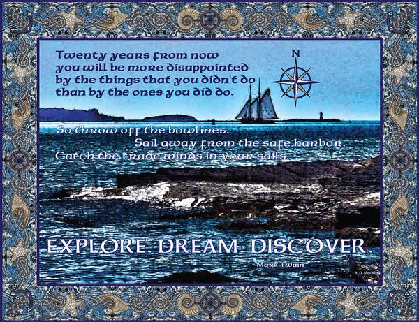 Halifax Nova Scotia Digital Art - Celtic Explorer - Bluenose II In Halifax Harbour by Celtic Artist Angela Dawn MacKay