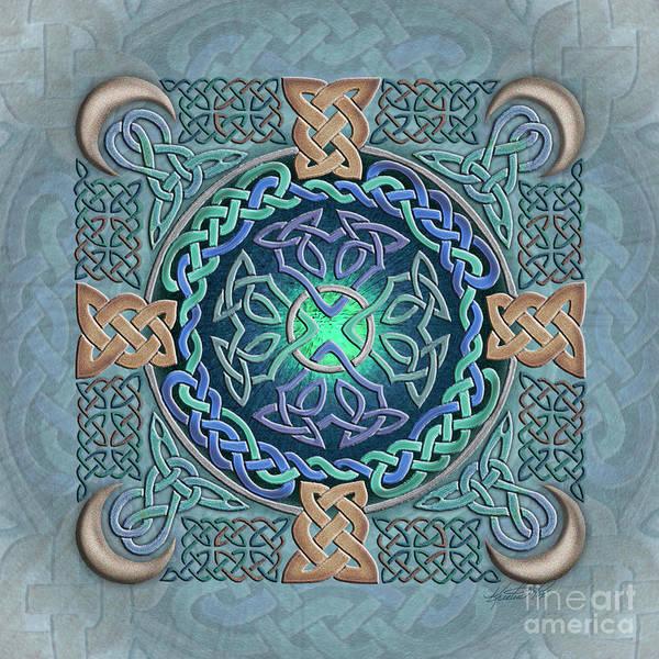 Mixed Media - Celtic Eye Of The World by Kristen Fox
