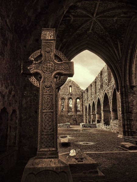 Photograph - Celtic High Cross Jerpoint Abbey Ireland by Menega Sabidussi