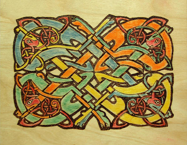 Pastel - Celtic Knot 1 by David Yocum